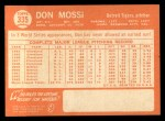 1964 Topps #335  Don Mossi  Back Thumbnail