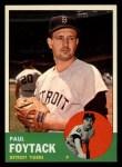 1963 Topps #327  Paul Foytack  Front Thumbnail