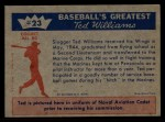 1959 Fleer #23   -  Ted Williams Wins His Wings Back Thumbnail