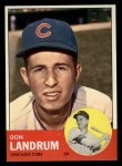 1963 Topps #113   -  Don Landrum / Ron Santo Don Landrum's Card with Ron Santo's Picture Front Thumbnail