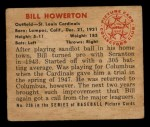 1950 Bowman #239 CPR Bill Howerton  Back Thumbnail