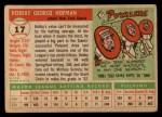 1955 Topps #17  Bobby Hofman  Back Thumbnail