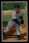 1951 Bowman #109  Allie Reynolds  Front Thumbnail