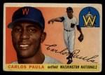 1955 Topps #97  Carlos Paula  Front Thumbnail