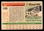 1955 Topps #109  Eddie Lopat  Back Thumbnail
