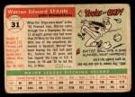 1955 Topps #31  Warren Spahn  Back Thumbnail