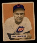 1949 Bowman #200  Jess Dobernic  Front Thumbnail