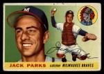 1955 Topps #23  Jack Parks  Front Thumbnail