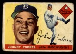 1955 Topps #25  Johnny Podres  Front Thumbnail