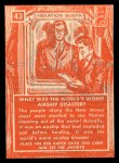 1957 Topps Isolation Booth #43   World's Worst Airship Disaster Back Thumbnail