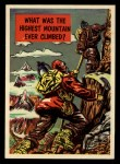 1957 Topps Isolation Booth #45   Highest Mountain Ever Climbed Front Thumbnail