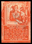 1957 Topps Isolation Booth #26   World's Largest Telescope Back Thumbnail