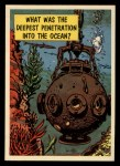 1957 Topps Isolation Booth #46   Deepest Penetration into the Ocean Front Thumbnail