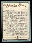 1964 Topps Beatles Diary #45 A John Lennon  Back Thumbnail