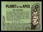 1969 Topps Planet of the Apes #15   The Victors Back Thumbnail