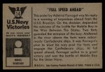 1954 Bowman U.S. Navy Victories #14   Full Speed Ahead Back Thumbnail