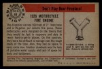 1953 Bowman Firefighters #40   1926 Motorcycle Engine Back Thumbnail