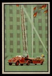 1953 Bowman Firefighters #50   Modern Hook and Ladder - Seagrave Front Thumbnail