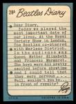 1964 Topps Beatles Diary #28 A Ringo Starr  Back Thumbnail