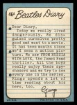 1964 Topps Beatles Diary #46 A George Harrison  Back Thumbnail