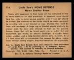 1941 Gum Inc. Uncle Sam Home Defense #116   Home Shelter Room Back Thumbnail