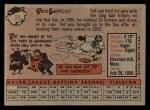 1958 Topps #29  Ted Lepcio  Back Thumbnail