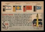 1955 Topps Rails & Sails #135   Express Cruiser Back Thumbnail