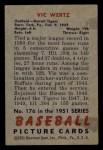 1951 Bowman #176  Vic Wertz  Back Thumbnail