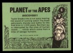 1969 Topps Planet of the Apes #6   Discovery Back Thumbnail
