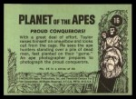 1969 Topps Planet of the Apes #16   Proud Conquerors Back Thumbnail
