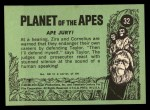 1969 Topps Planet of the Apes #32   Ape Jury Back Thumbnail