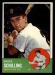 1963 Topps #52 ^COR^ Chuck Schilling  Front Thumbnail