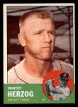 1963 Topps #302  Whitey Herzog  Front Thumbnail