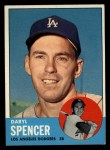 1963 Topps #502  Daryl Spencer  Front Thumbnail