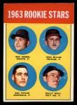 1963 Topps #208   -  Ron Herbel / John Miller / Wally Wolf / Ron Taylor Rookies   Front Thumbnail