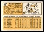1963 Topps #160  Juan Pizarro  Back Thumbnail