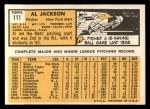 1963 Topps #111  Al Jackson  Back Thumbnail