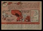 1958 Topps #395  Willard Nixon  Back Thumbnail