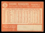 1964 Topps #336  Andre Rodgers  Back Thumbnail