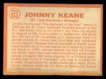 1964 Topps #413  Johnny Keane  Back Thumbnail