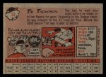 1958 Topps #57 *YN* Tim Thompson  Back Thumbnail