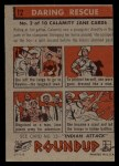 1956 Topps Round Up #12   -  Calamity Jane  Daring Rescue Back Thumbnail