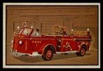 1953 Bowman Firefighters #12   Modern Pumping Engine - American LaFrance Front Thumbnail