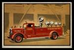1953 Bowman Firefighters #18   Modern Searchlight Wagon - Ward LaFrance Front Thumbnail
