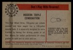 1953 Bowman Firefighters #53   Modern Triple Combination - Four Wheel Drive Back Thumbnail