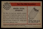 1953 Bowman Firefighters #54   Modern Special Apparatus - Mack Back Thumbnail