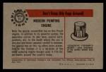 1953 Bowman Firefighters #11   Modern Pumping Engine - Pirsch Back Thumbnail