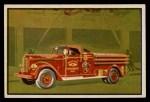 1953 Bowman Firefighters #11   Modern Pumping Engine - Pirsch Front Thumbnail