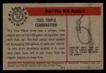 1953 Bowman Firefighters #43   1925 Triple Combo Back Thumbnail