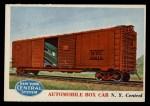 1955 Topps Rails & Sails #99   Automobile Box Car Front Thumbnail